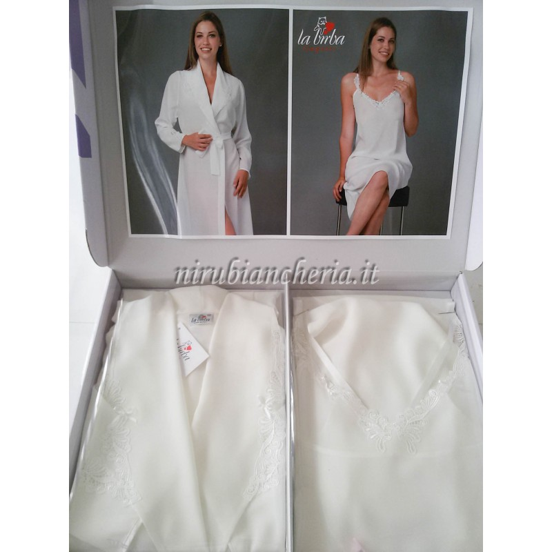 selezione premium 74258 e9738 Parure 2 pezzi vestaglia e camicia da notte. A286
