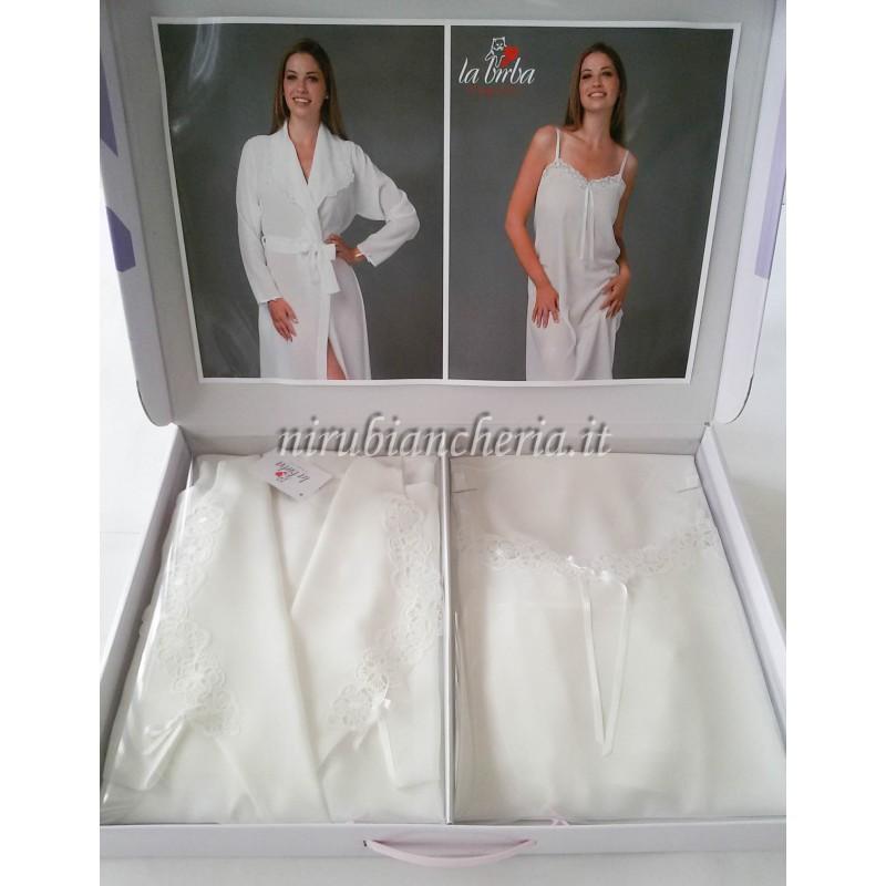 design senza tempo super popolare prezzo ragionevole Parure 2 pezzi vestaglia e camicia da notte. A287
