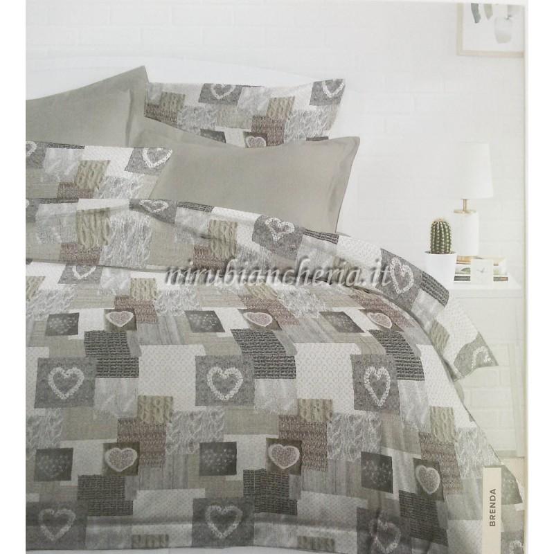 Copripiumino Matrimoniale Color Oro.Parure Copripiumino Matrimoniale Due Piazze In Cotone Microfibra Art Brenda Vari Colori A991