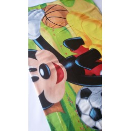 Plaid in pile Mickey Sport...