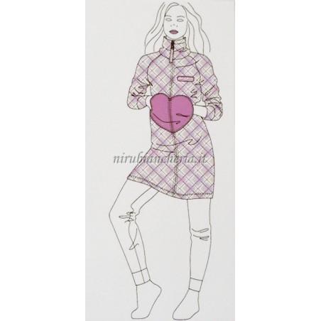Vestaglia donna invernale in caldo pile Marta Mazzotto. A033