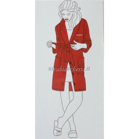 Vestaglia donna invernale in morbido coral Marta Mazzotto. A611