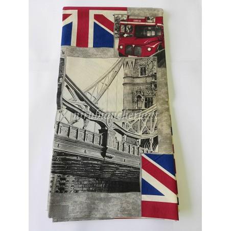 Scampolo di tessuto di cotone Dis. London 280x280 cm. B432
