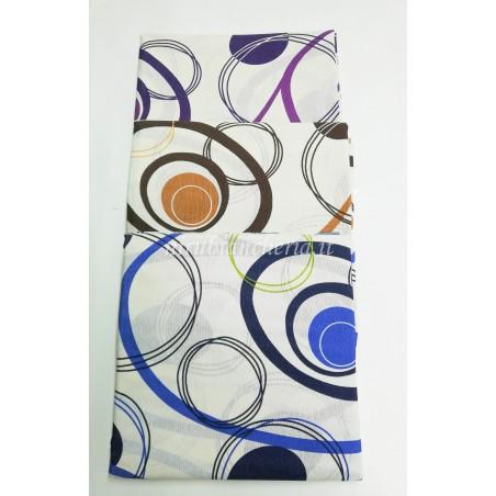 Scampolo tessuto di cotone Loneta a fantasia con cerchio 280x280 cm. B272