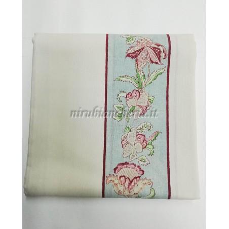 Scampolo tessuto di cotone Loneta a fantasia a fiore 280x280 cm. B284