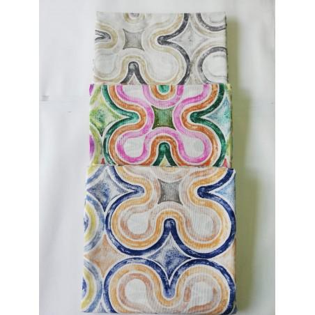 Scampolo tessuto di cotone loneta a fantasia multicolor 280x280 cm. B234
