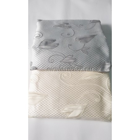 Scampolo tessuto foglie 280x280 cm per tappezzeria. A400
