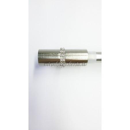 Bastone per tenda in ferro estensibile da 110a200 cm con finale cilindro con swaroschi. A860