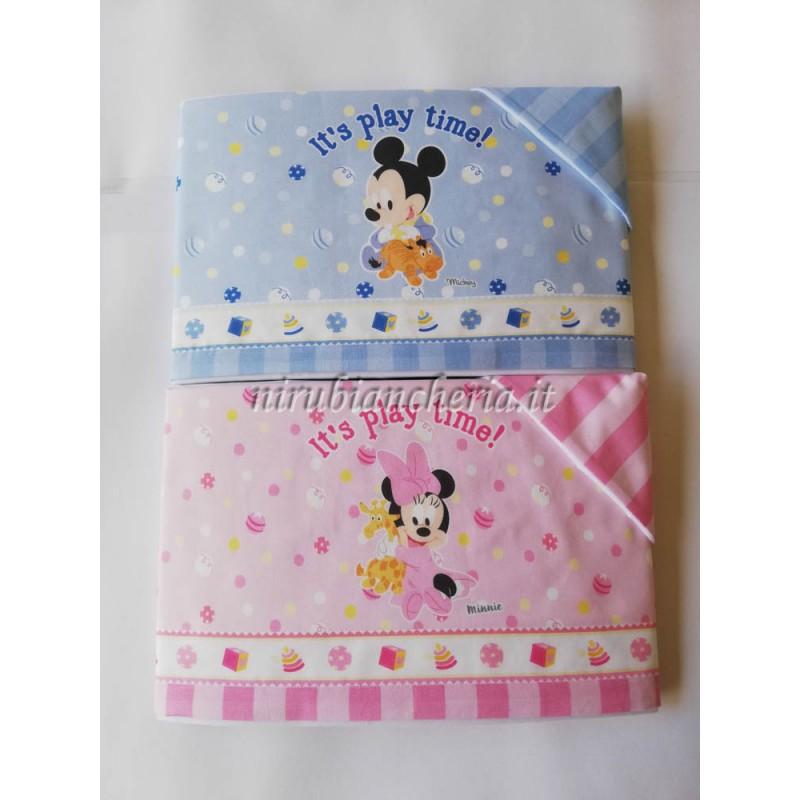 Completo Lenzuola Disney Baby Lettino Culla 100 Cotone C058